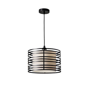 Reed Black One-Light Pendant