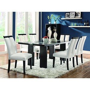 White and Black Side Chairs, Set of 2