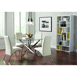 Chrome Round Dining Table