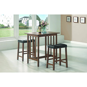 Brown 3-Piece Counter Dining Set