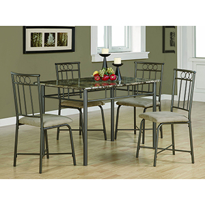 Tan and Grey Five-Piece Dining Set