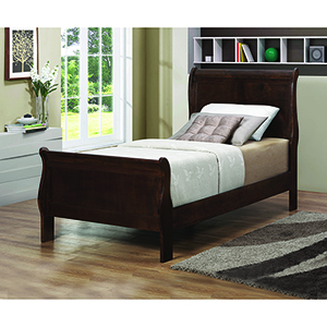 Cappuccino Twin Panel Sleigh Bed