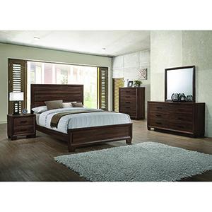 Warm Brown Medium Queen Panel Bed