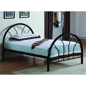 Black Twin Metal Bed