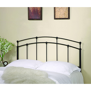 Black Full Queen Metal Headboard