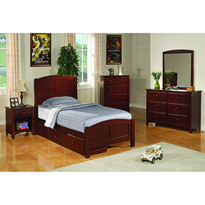 Chestnut Twin Panel Bed