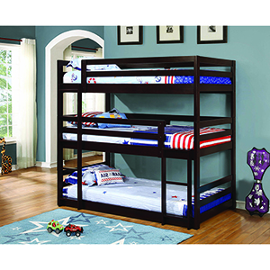 Cappuccino Twin Triple Bunk Bed