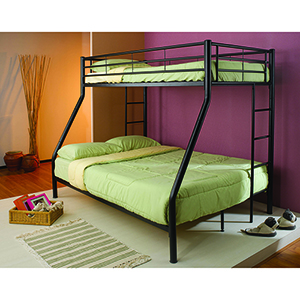 Black Twin Over Full Bunk Bed