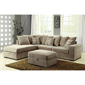 Brown Reversible Sectional