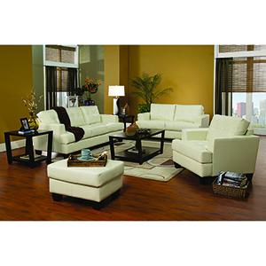 Cream Cappuccino Leather Sofa