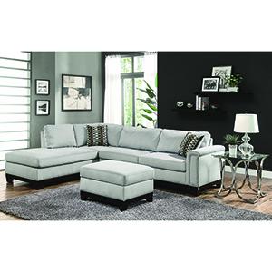 Brown Track Arm Reversible Sofa