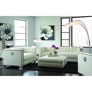 Silver Tufted Sofa