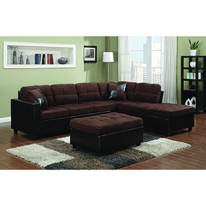 Black Reversible Sectional