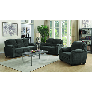 Black Upholstered Sofa