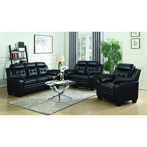 Black Sofa with Extreme Padding