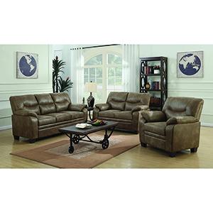 Brown Padded Sofa