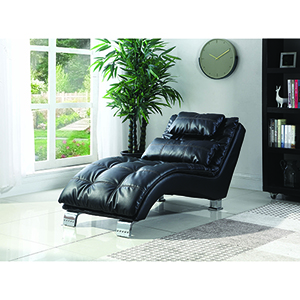 Black Upholstered Chaise