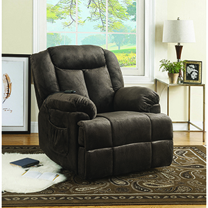 Chocolate Velvet Power Lift Recliner
