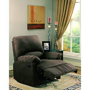 Chocolate Upholstered Recliner