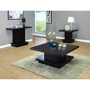 Cappuccino Pedestal End Table