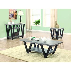 Black and Grey Angled Leg End Table