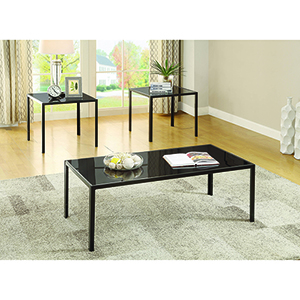 Black Three-Piece Occasional Table Set