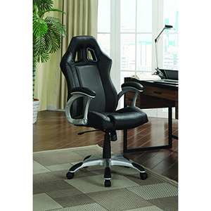 Black and Grey Office Task Chair with Air Ventilation