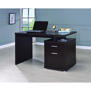 Cappuccino Office Desk with Cabinet