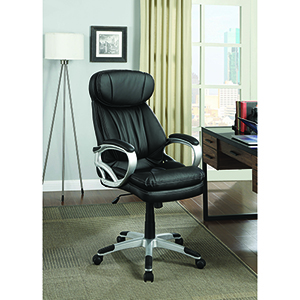 Black and Silver Adjustable Height Office Chair
