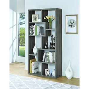Weathered Grey Multiple Cubed Rectangular Bookcase