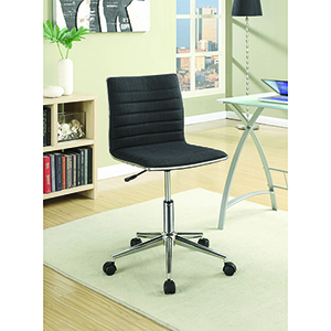 Black and Chrome Adjustable Height Office Chair