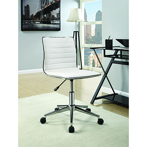 White and Chrome Sleek Office Chair