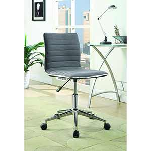 Grey and Chrome Adjustable Height Office Chair