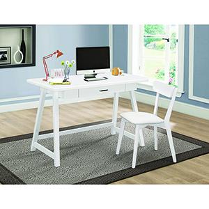 White Two-Piece Writing Desk Set