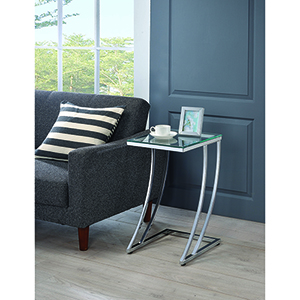 Chrome Rectangular Accent Table