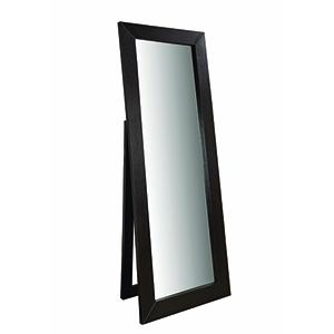 Dark Cappuccino Beveled Frame Floor Mirror