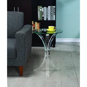 Transparent Round Accent Table