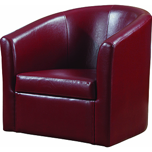 Red Accent Swivel Chair