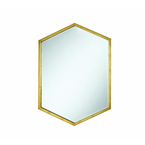 Gold Accents Hexagon Shaped Mirror