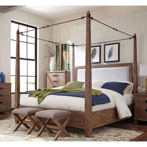 Madeleine Smoky Acacia Buckle Canopy Eastern King Bed