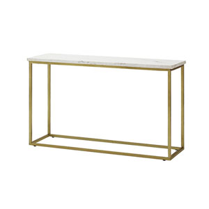 Isabelle White Glass Top Sofa Table
