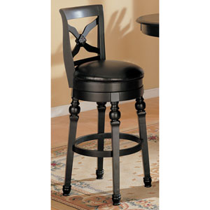 Lathrop 29-Inch Swivel Bar Stool with Faux Leather Seat