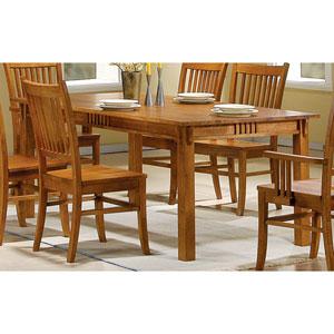 Marbrisa Brown Rectangular Leg Dining Table