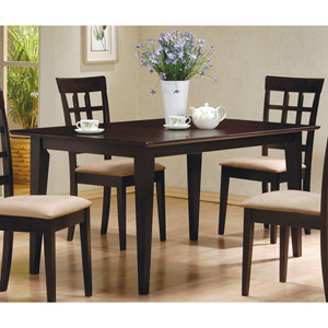 Cappuccino Rectangle Leg Dining Table