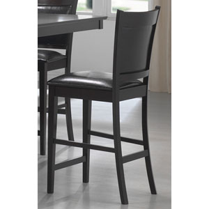 Jaden Counter Height Stool with Vinyl Padded Seat and Back, Set of 2