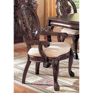 Tabitha Traditional Dining Arm Chair, Set of 2