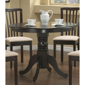 Brannan Cappuccino Round Single Pedestal Dining Table