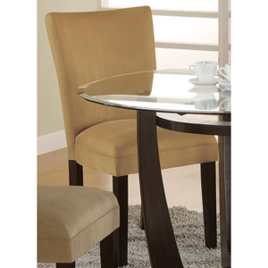 Bloomfield Gold Microfiber Parson Side Chair, Set of 2