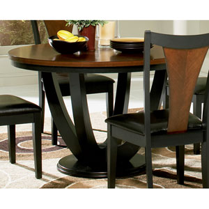 Amber and Black Round Table