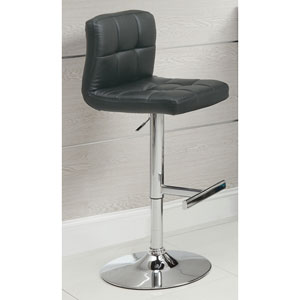 Black 29-Inch Adjustable Height Bar Stool with Footrest, Set of 2